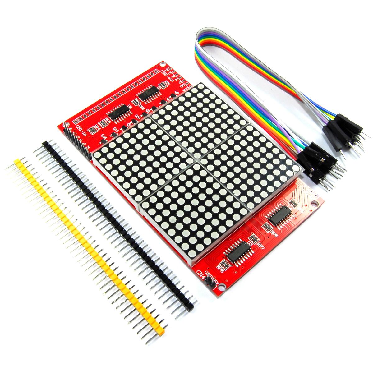 Details about 16x16 LED Matrix Module Red Cascade Arduino 74HC138 74HC595  Flux Workshop
