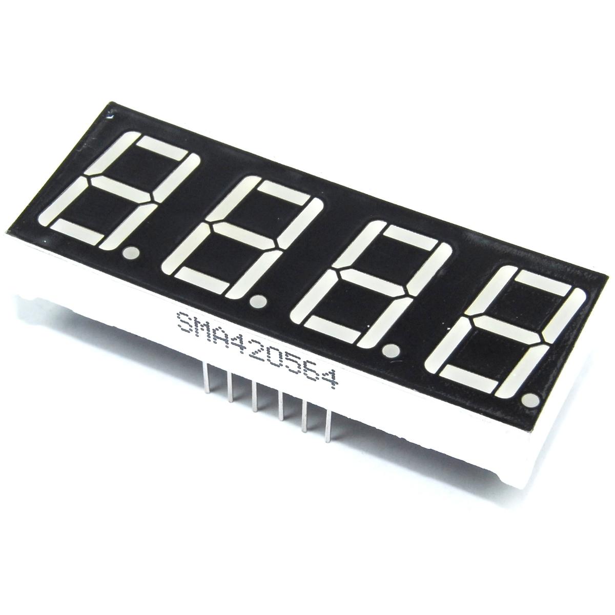 "SETTE SEGMENTI LED ROSSO 0.5/"" Cifre Display ANODO Pi Flux Workshop Arduino"