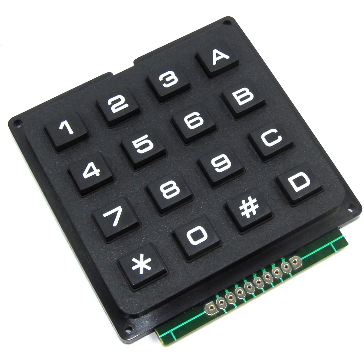 how to connect 4x4 keypad to arduino uno