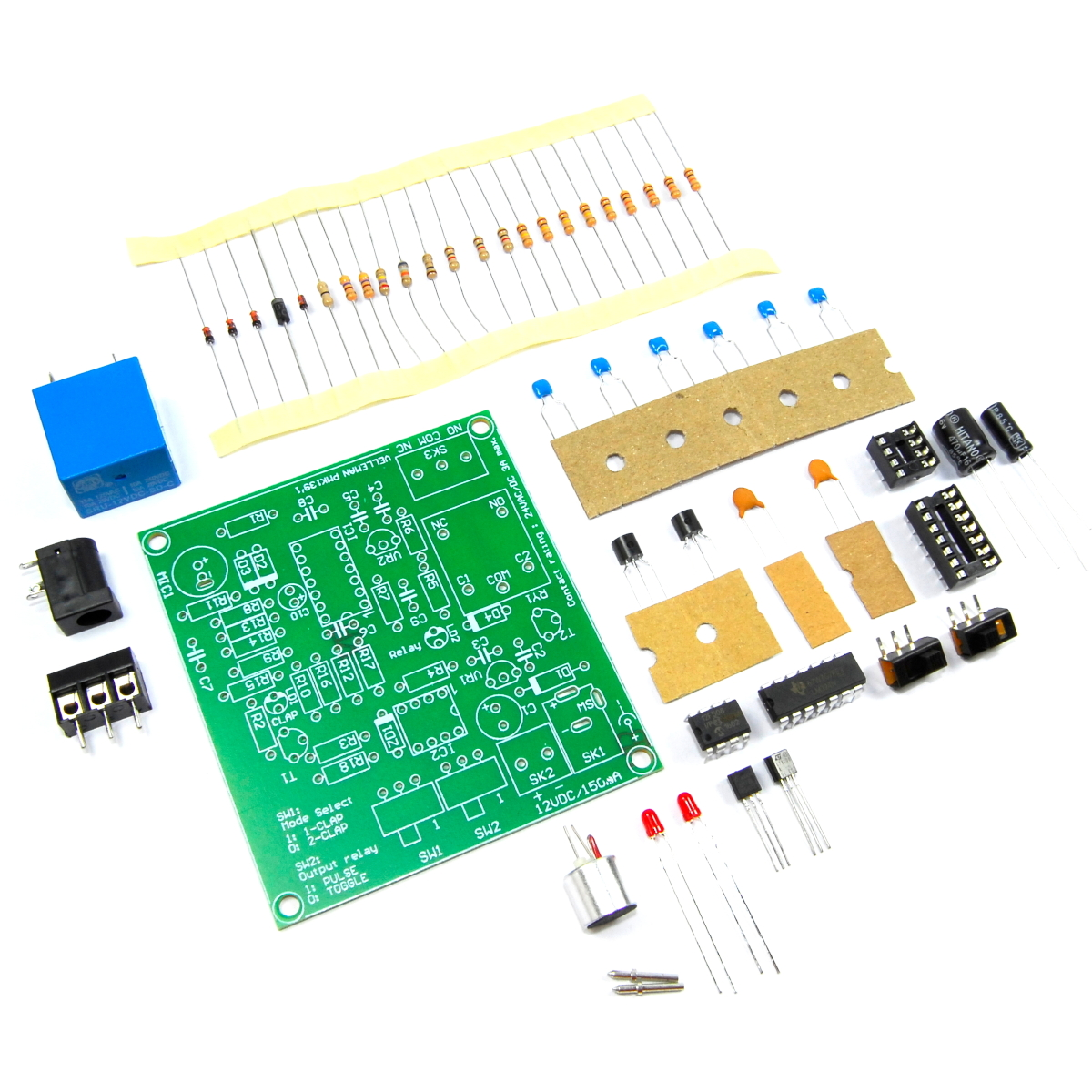 Velleman Clap On Off Switch Mini Kit Diy Unsoldered Clapper Mic Flux Diagram Images