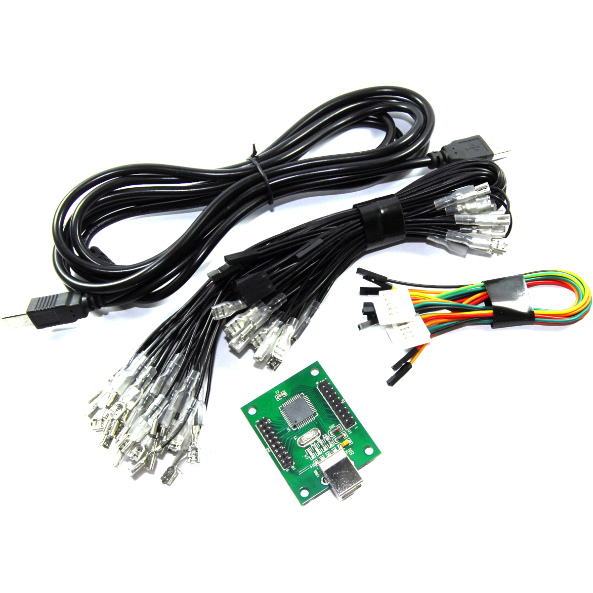 USB Arcade Gamepad Set Joystick Encoder MAME Turbo Panel Flux Workshop
